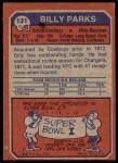 1973 Topps #131  Billy Parks  Back Thumbnail