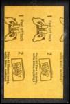 1963 Topps Peel-Offs #19  Ken Hubbs  Back Thumbnail