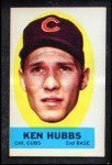 1963 Topps Peel-Offs #19  Ken Hubbs  Front Thumbnail