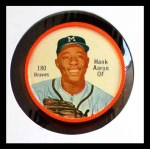 1962 Salada Coins #180  Hank Aaron  Front Thumbnail