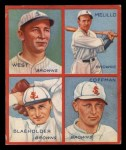 1935 Goudey  Sam West / Oscar Melillo / George Blaeholder / Dick Coffman  Front Thumbnail