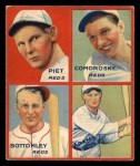 1935 Goudey  Tony Piet / Adam Comorosky / Jim Bottomley / Sparky Adams  Front Thumbnail