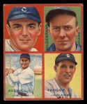 1935 Goudey 4-in-1  Earl Averill / Oral Hildebrand / Willie Kamm / Hal Trosky  Front Thumbnail