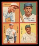 1935 Goudey 4-in-1  Joe Cronin / Carl Reynolds / Max Bishop / Chalmer Cissell  Front Thumbnail