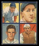 1935 Goudey  Dick Bartell / Hughey Hughie Hugh Critz / Gus Mancusco / Mel Ott  Front Thumbnail