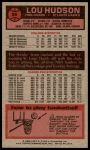 1976 Topps #96  Lou Hudson  Back Thumbnail