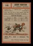 1962 Topps #146  Jerry Norton  Back Thumbnail
