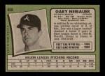1971 Topps #668  Gary Neibauer  Back Thumbnail