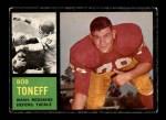 1962 Topps #172  Bob Toneff  Front Thumbnail