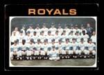 1971 Topps #742   Royals Team Front Thumbnail