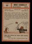 1962 Topps #44  Mike Connelly  Back Thumbnail