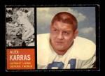 1962 Topps #58  Alex Karras  Front Thumbnail