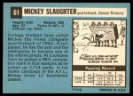 1964 Topps #61  Mickey Slaughter  Back Thumbnail