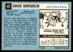 1964 Topps #47  Goose Gonsoulin  Back Thumbnail