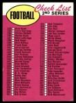 1969 Topps #132 xBOR  Checklist Front Thumbnail