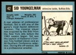 1964 Topps #42  Sid Youngelman  Back Thumbnail