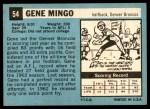 1964 Topps #54  Gene Mingo  Back Thumbnail