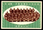 1961 Topps #66   49ers Team Front Thumbnail