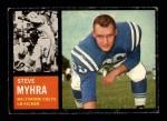 1962 Topps #6  Steve Myhra  Front Thumbnail