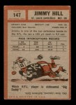 1962 Topps #147  Jimmy Hill  Back Thumbnail