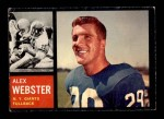1962 Topps #105  Alex Webster  Front Thumbnail