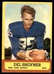 1963 Topps #50  Del Shofner  Front Thumbnail