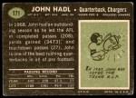 1969 Topps #171  John Hadl  Back Thumbnail