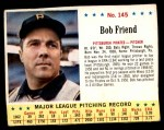 1963 Jello #145  Bob Friend  Front Thumbnail