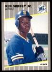 1989 Fleer #548  Ken Griffey Jr.  Front Thumbnail