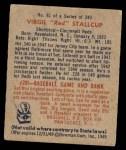 1949 Bowman #81  Virgil Stallcup  Back Thumbnail