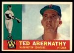1960 Topps #334  Ted Abernathy  Front Thumbnail