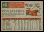 1959 Topps #452  Chico Fernandez  Back Thumbnail