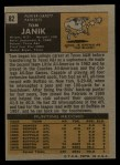 1971 Topps #82  Tom Janik  Back Thumbnail