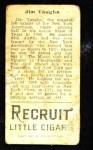 1912 T207  Hippo Vaughn    Back Thumbnail