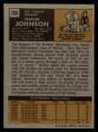 1971 Topps #104  Walter Johnson  Back Thumbnail