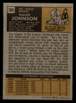 1971 Topps #104  Walter Johnson  Back Thumbnail