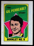 1971 Topps O-Pee-Chee Booklets #8  Gilbert Perreault  Front Thumbnail