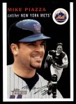 2003 Topps Heritage #150 BLK Mike Piazza   Front Thumbnail
