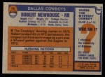 1976 Topps #14  Robert Newhouse   Back Thumbnail