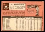 1969 Topps #64  Bill Monbouquette  Back Thumbnail