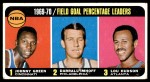 1970 Topps #3   -  Lou Hudson / Darrall Imhoff / Johnny Green  Field Goal Pct Leaders Front Thumbnail