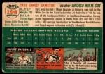 1954 Topps #198  Carl Sawatski  Back Thumbnail
