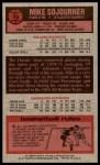 1976 Topps #79  Mike Sojourner  Back Thumbnail