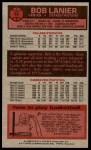 1976 Topps #10  Bob Lanier  Back Thumbnail