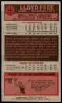 1976 Topps #143  Lloyd Free  Back Thumbnail