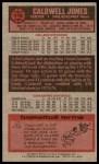 1976 Topps #112  Caldwell Jones  Back Thumbnail