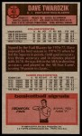 1976 Topps #42  Dave Twardzik  Back Thumbnail