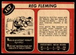 1968 O-Pee-Chee #167  Reg Fleming  Back Thumbnail