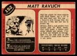 1968 O-Pee-Chee #152  Matt Ravlich  Back Thumbnail