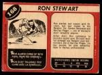 1968 O-Pee-Chee #168  Ron Stewart  Back Thumbnail